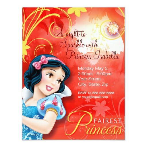 Best ideas about Snow White Birthday Invitations . Save or Pin Snow White Birthday Invitation Now.