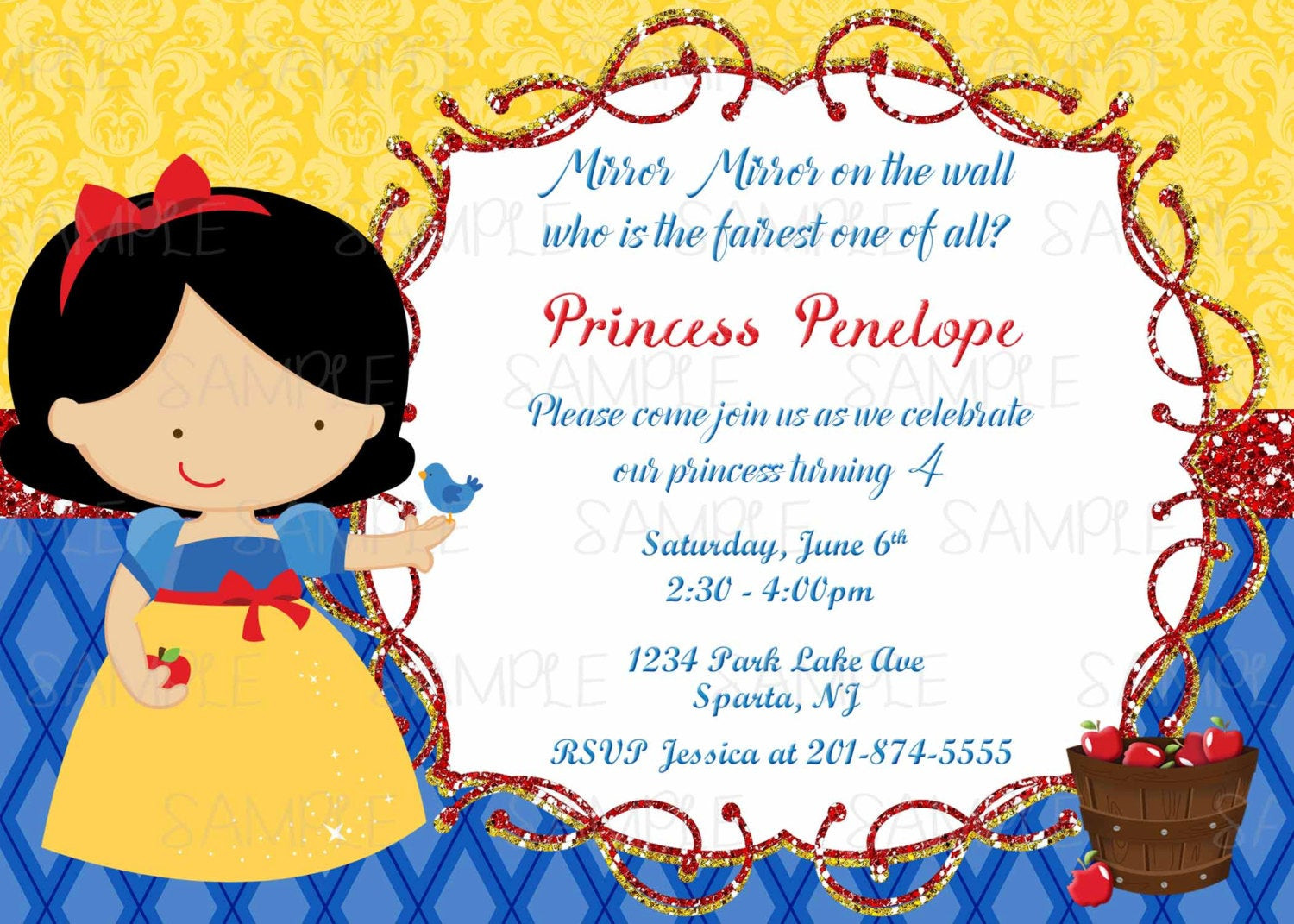 Best ideas about Snow White Birthday Invitations . Save or Pin Printable Snow White Birthday Party Invitation plus FREE blank Now.