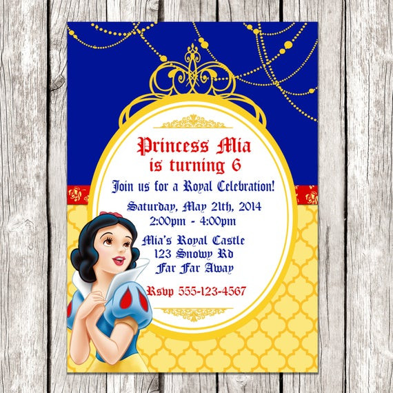 Best ideas about Snow White Birthday Invitations . Save or Pin Snow White Invitation Snow White Birthday Party DIY Now.