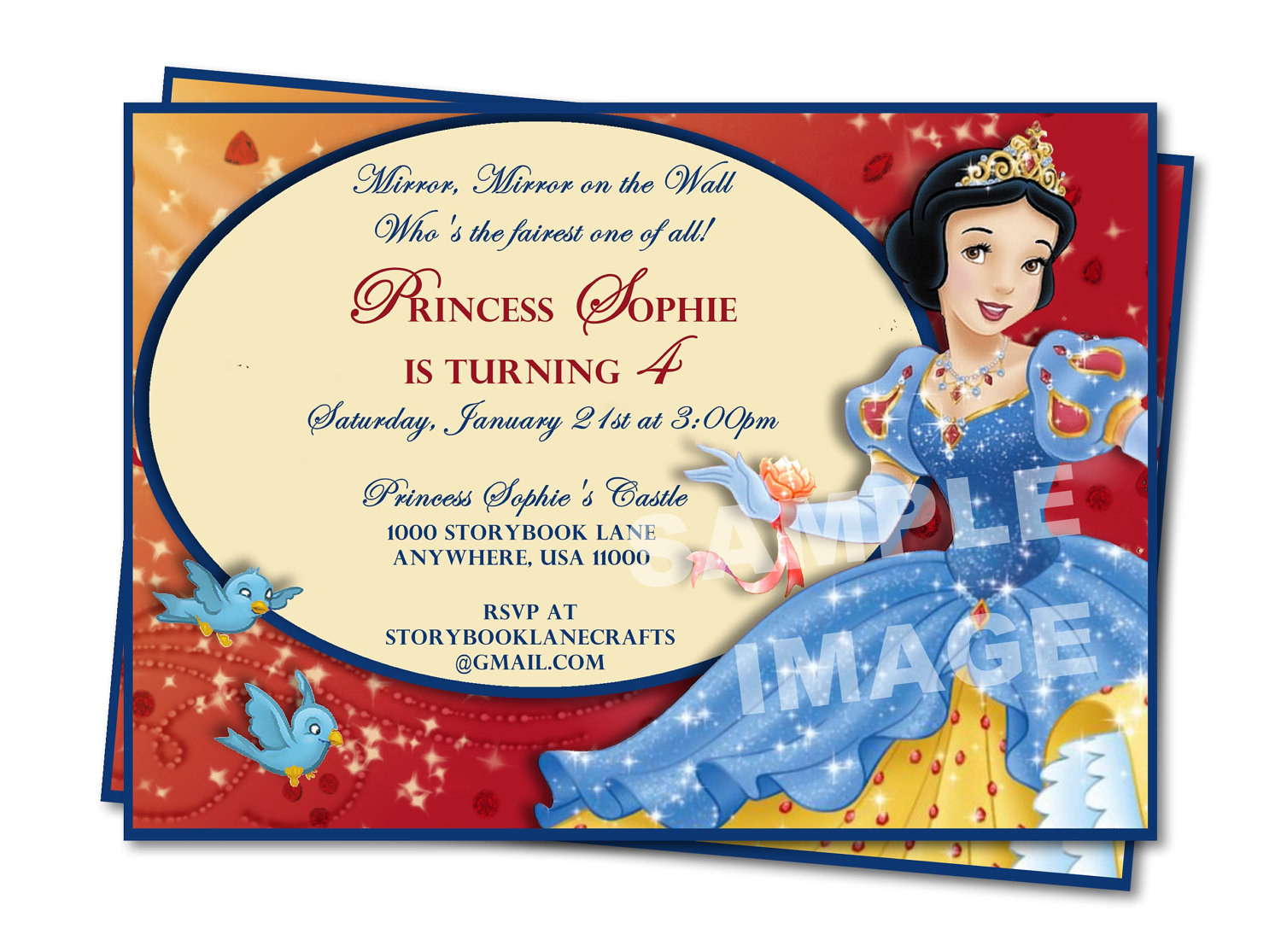 Best ideas about Snow White Birthday Invitations . Save or Pin Disney Snow White Birthday Invitation Party Printable Now.