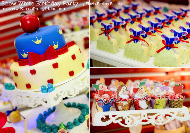 Best ideas about Snow White Birthday Party Ideas . Save or Pin Kara s Party Ideas Snow white party supplies idea planning Now.