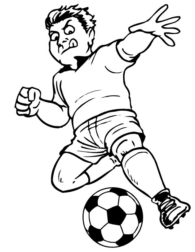 Best ideas about Soccer Coloring Sheets For Kids . Save or Pin Free Printable Soccer Coloring Pages For Kids Now.