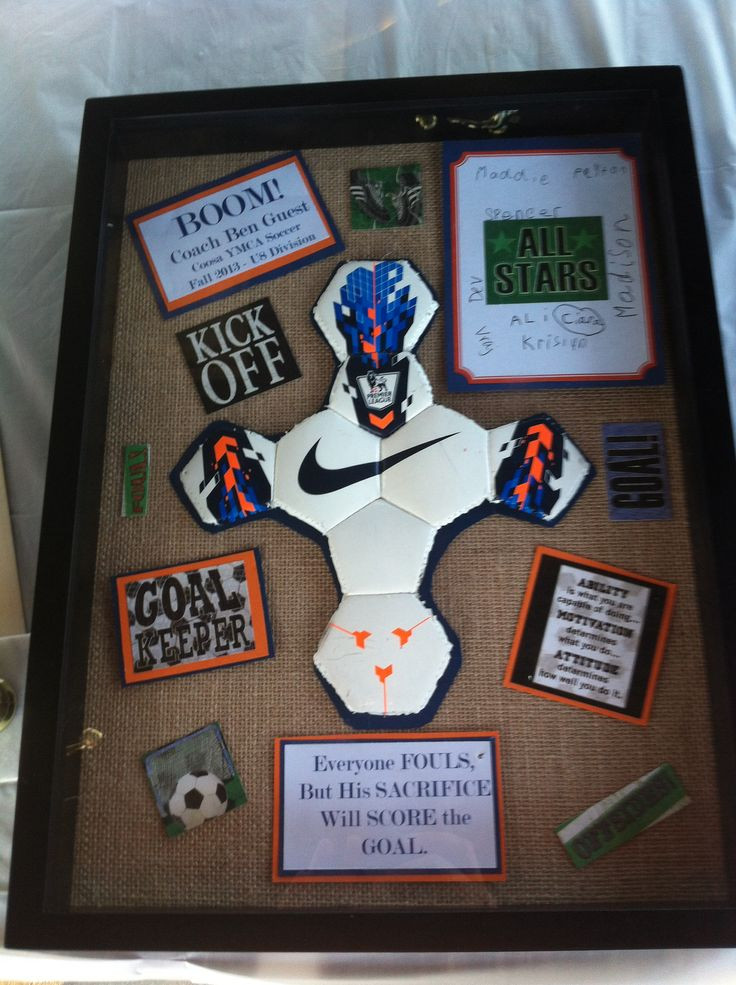 Best ideas about Soccer Gift Ideas . Save or Pin Soccer Coach t I also did this in Auburn colors since Now.