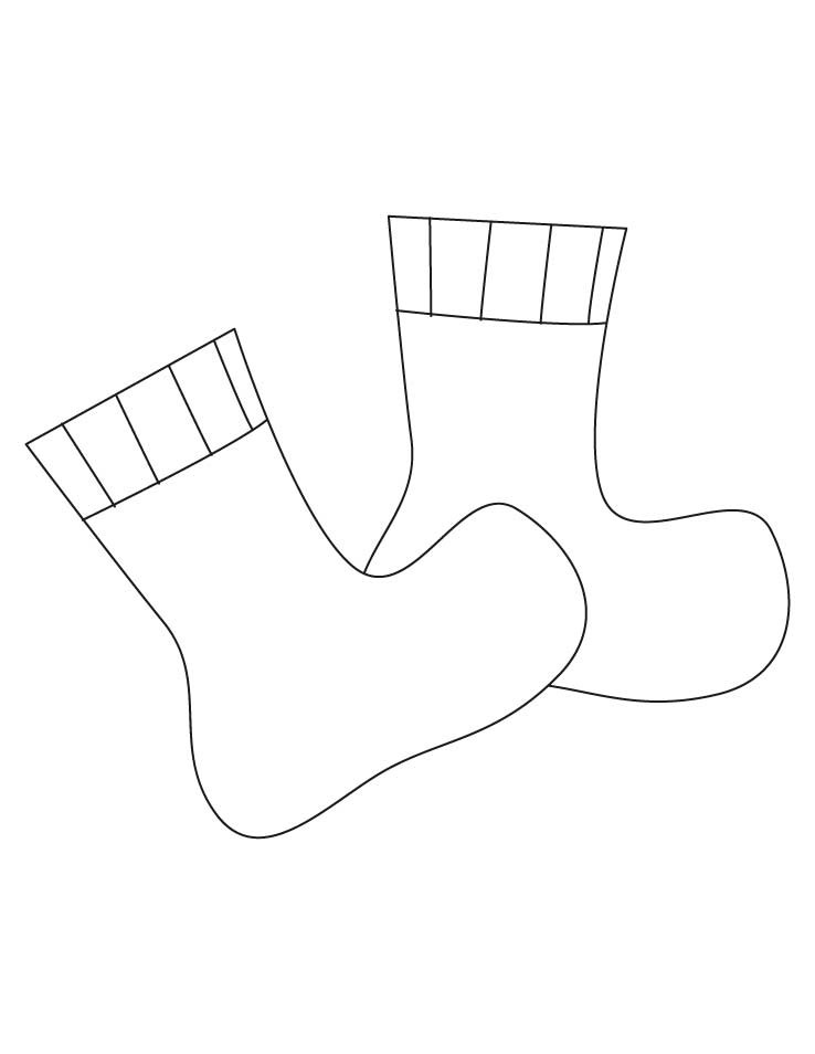 Best ideas about Socks Coloring Pages For Kids . Save or Pin Color Socks AZ Colorare Now.