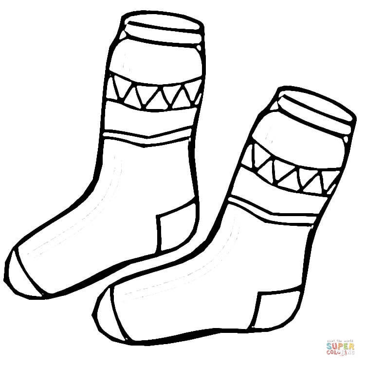Best ideas about Socks Coloring Pages For Kids . Save or Pin Kid Socks coloring page Now.