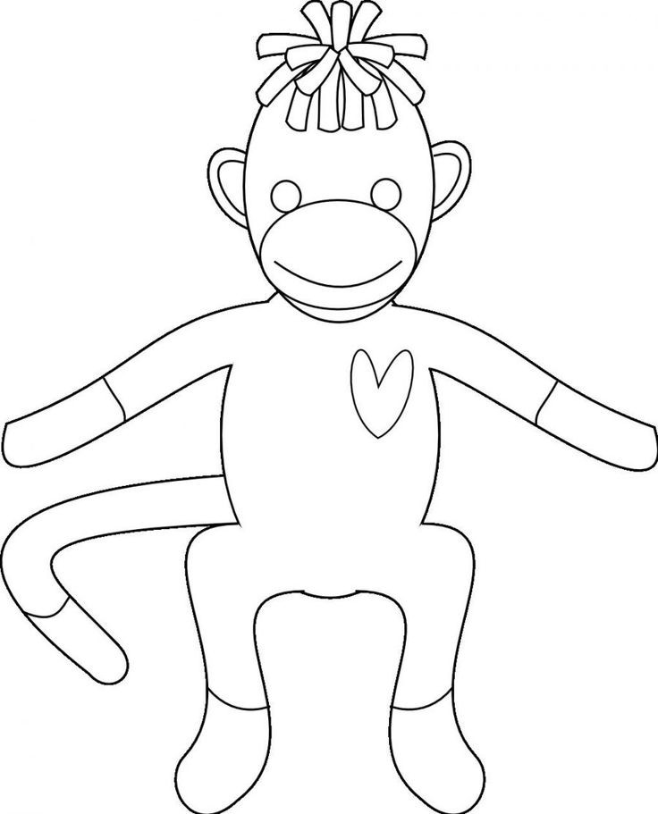 Best ideas about Socks Coloring Pages For Kids . Save or Pin Sock Monkey Coloring Pages for Kids Enjoy Coloring Now.