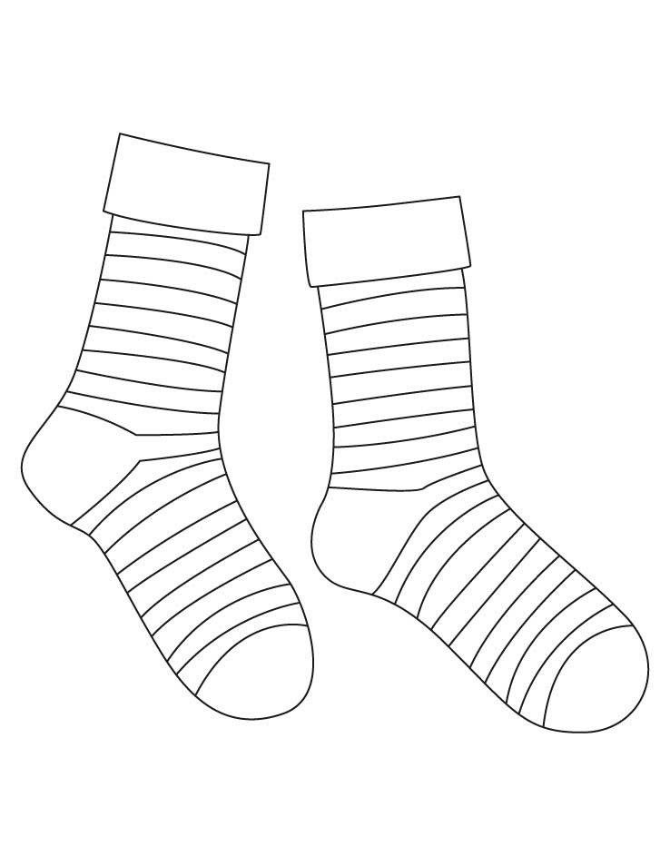 Best ideas about Socks Coloring Pages For Kids . Save or Pin Striped socks coloring pages Now.