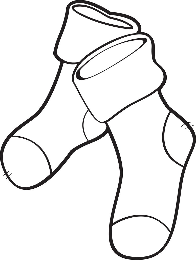 Best ideas about Socks Coloring Pages For Kids . Save or Pin FREE Printable Christmas Stockings Coloring Page for Kids Now.