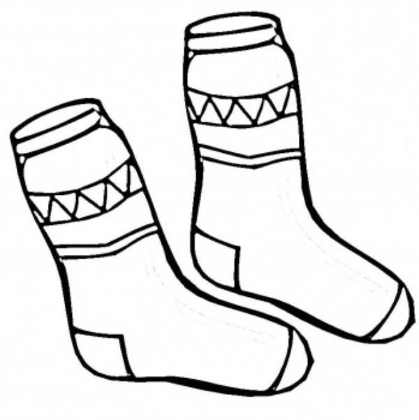 Best ideas about Socks Coloring Pages For Kids . Save or Pin Socks Winter Clothes Coloring Page sock crafts Now.