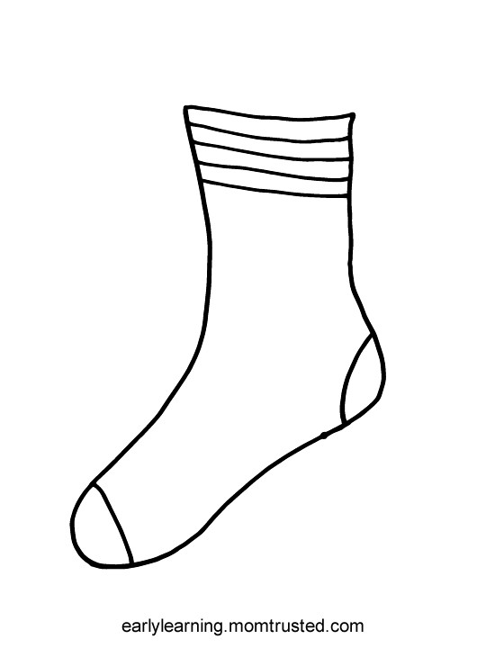 Best ideas about Socks Coloring Pages For Kids . Save or Pin sock printable Now.