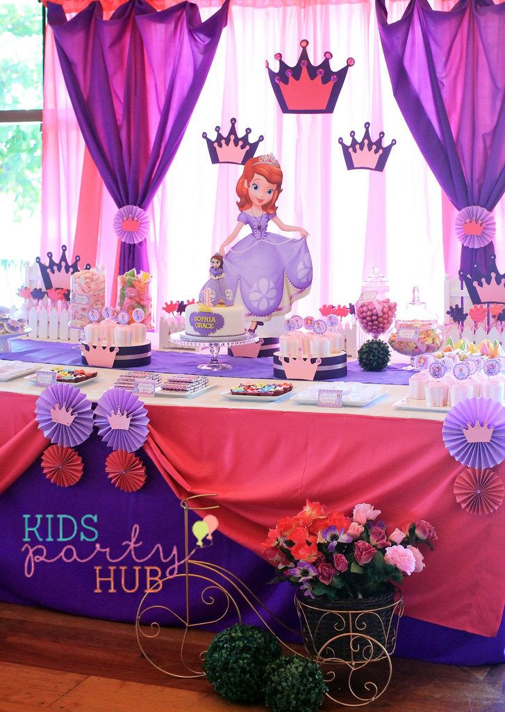 Best ideas about Sofia The First Birthday Decorations . Save or Pin Sofia the First Birthday Party Decorations Now.