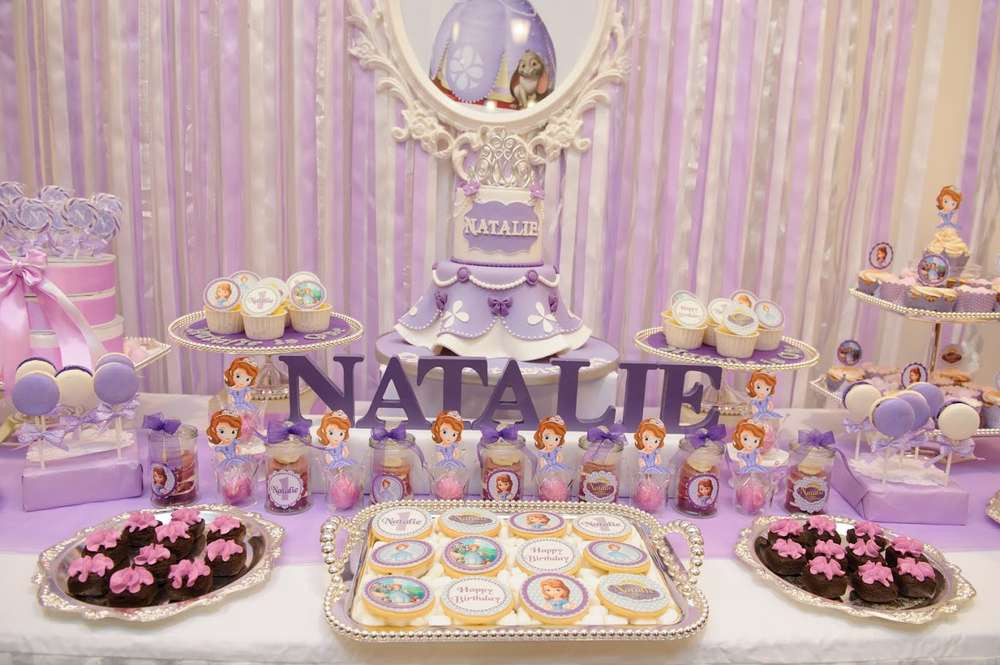 Best ideas about Sofia The First Birthday Decorations . Save or Pin Sofia the First Birthday Party Ideas Now.