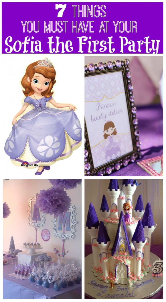 Best ideas about Sofia The First Birthday Decorations . Save or Pin 7 Things You Must Have at Your Sofia the First Party Now.