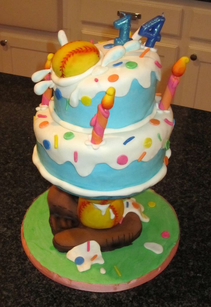 Best ideas about Softball Birthday Cake . Save or Pin 32 best images about Softball Cakes on Pinterest Now.
