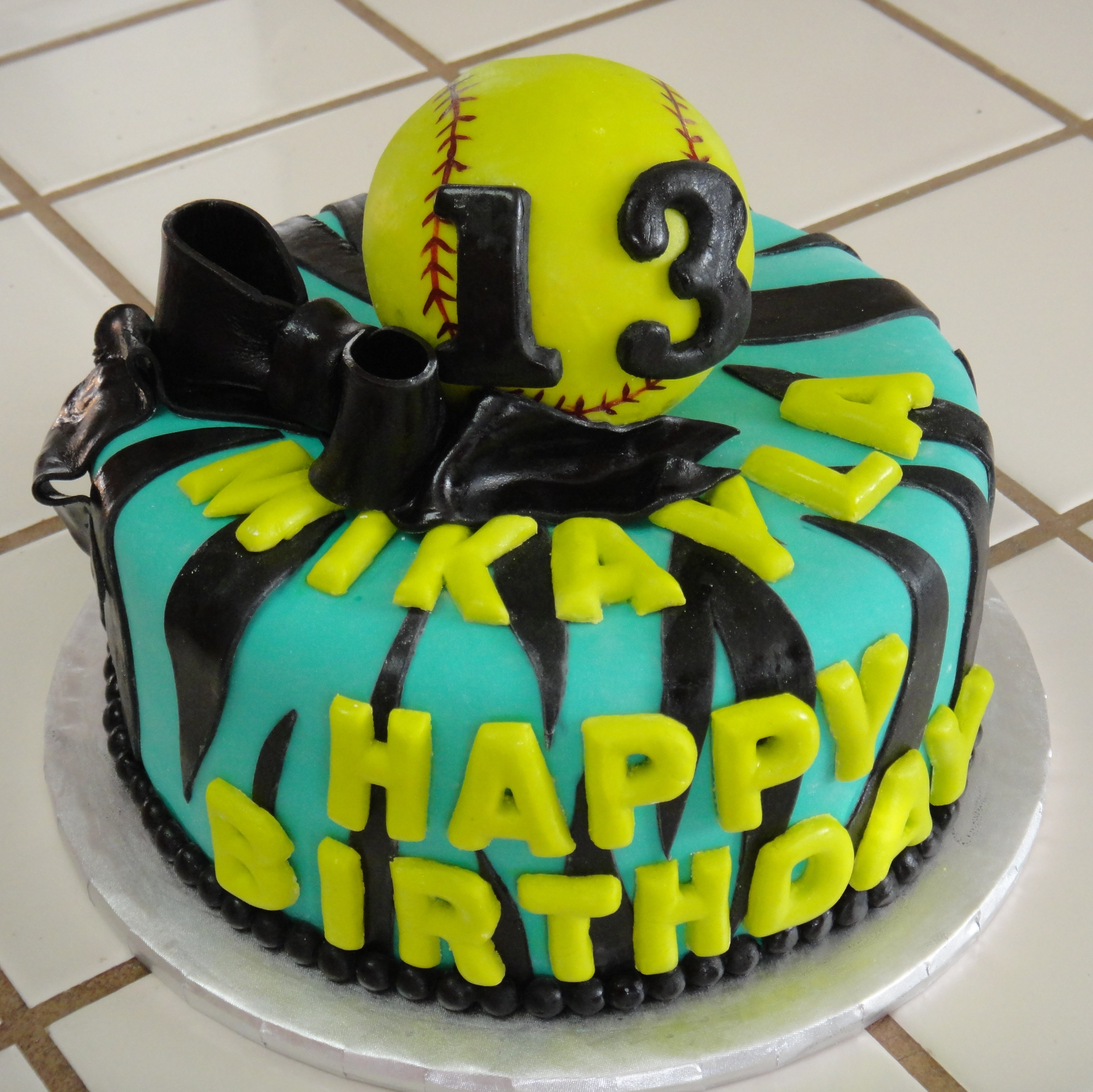 Best ideas about Softball Birthday Cake . Save or Pin Girls Softball Cake Cake Ideas and Designs Now.