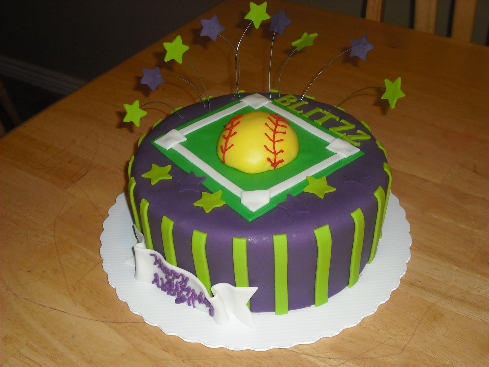 Best ideas about Softball Birthday Cake . Save or Pin Sprinklebelle Softball Birthday Cake Now.