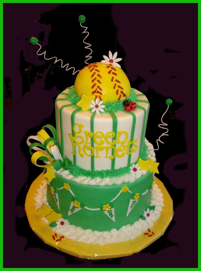 Best ideas about Softball Birthday Cake . Save or Pin 32 best Softball Cakes images on Pinterest Now.
