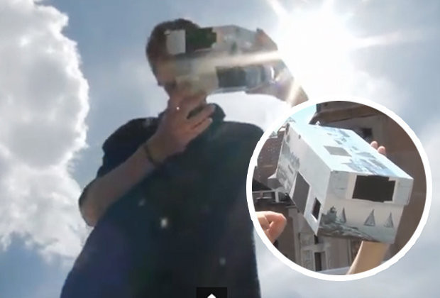 Best ideas about Solar Eclipse DIY Glasses . Save or Pin Solar eclipse DIY camera helps you watch in safety Now.