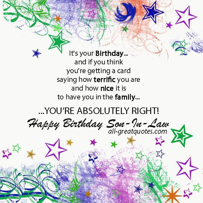 Best ideas about Son In Law Birthday Wishes . Save or Pin 78 Best ideas about Son In Law on Pinterest Now.