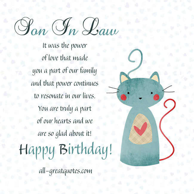 Best ideas about Son In Law Birthday Wishes . Save or Pin Funny Son In Law Quotes QuotesGram Now.