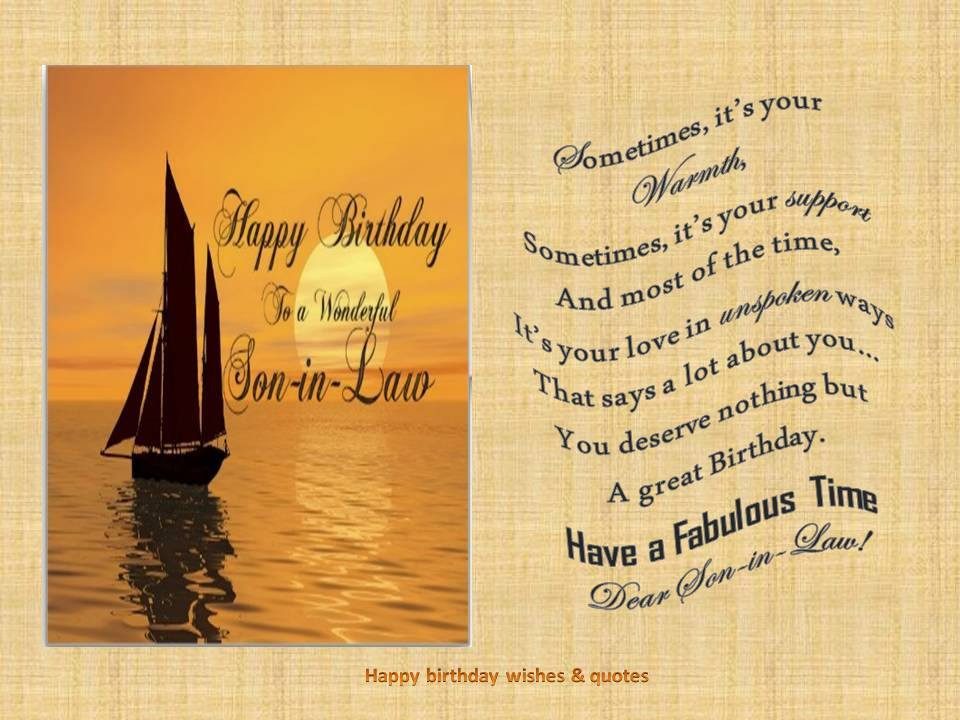 Best ideas about Son In Law Birthday Wishes . Save or Pin Happy Birthday Son In Law Quotes QuotesGram Now.