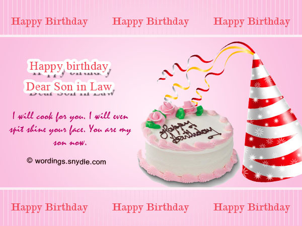Best ideas about Son In Law Birthday Wishes . Save or Pin Birthday Wishes for Son Wordings and Messages Now.