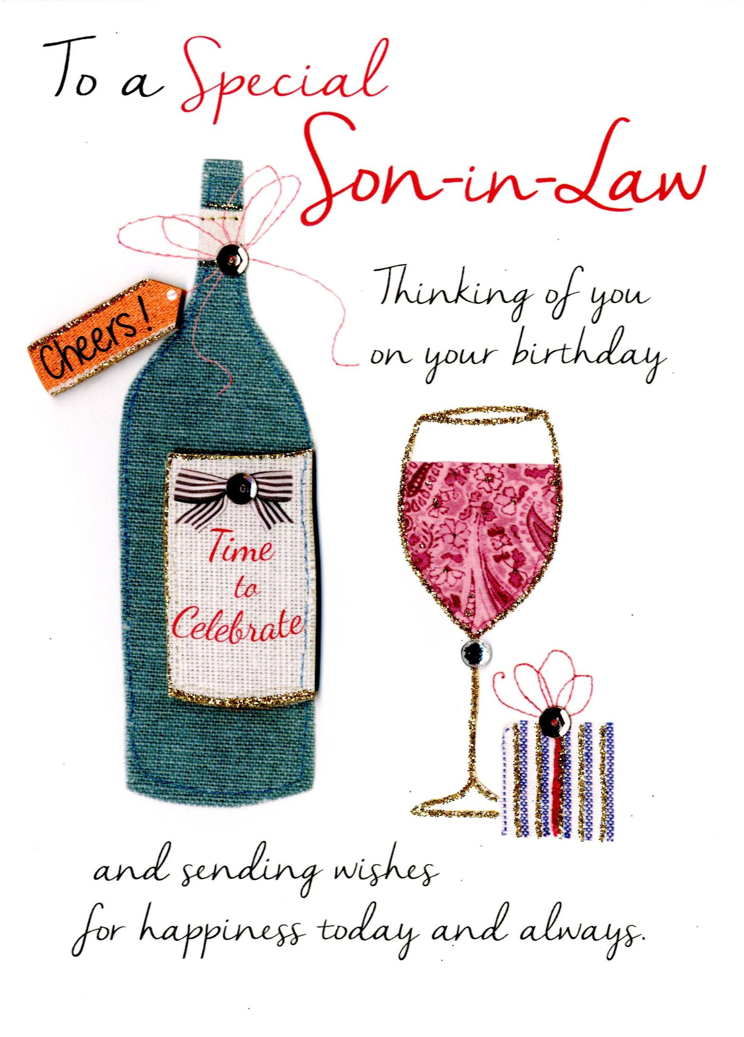 Best ideas about Son In Law Birthday Wishes . Save or Pin Special Son In Law Birthday Greeting Card Now.