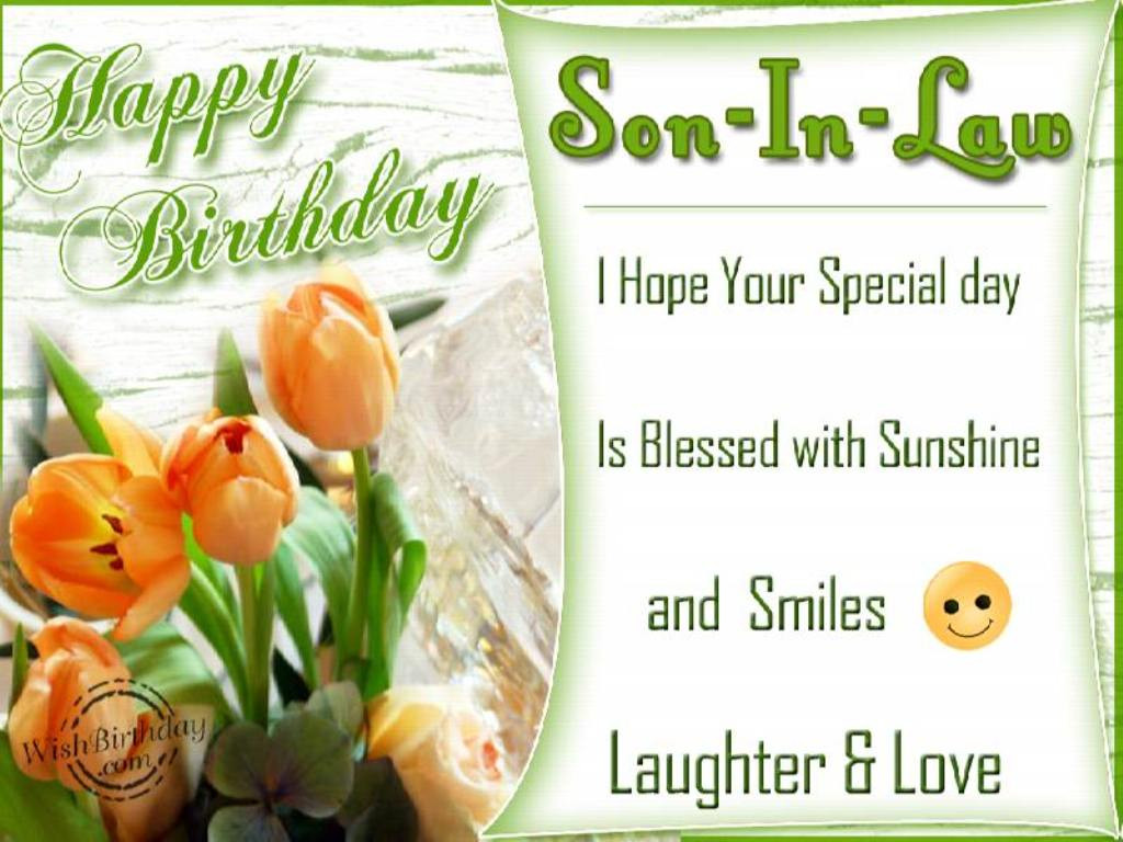 Best ideas about Son In Law Birthday Wishes . Save or Pin Birthday Wishes Son In Law Wishes Greetings Now.