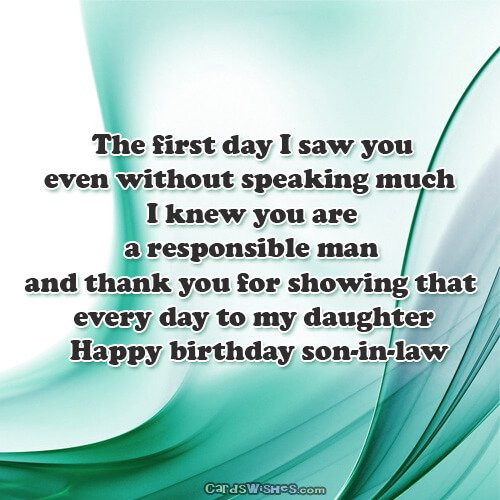 Best ideas about Son In Law Birthday Wishes . Save or Pin Happy Birthday Wishes for Son in Law Cards Wishes Now.