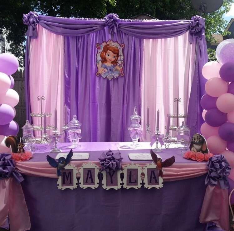 Best ideas about Sophia The First Birthday Decorations . Save or Pin Princess sophia Birthday Party Ideas Now.