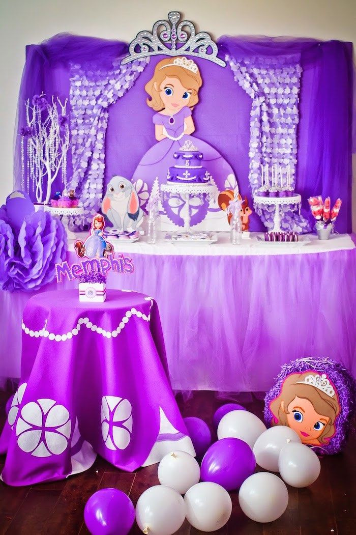 Best ideas about Sophia The First Birthday Decorations . Save or Pin 57 best images about Sofia the first birthday party on Now.
