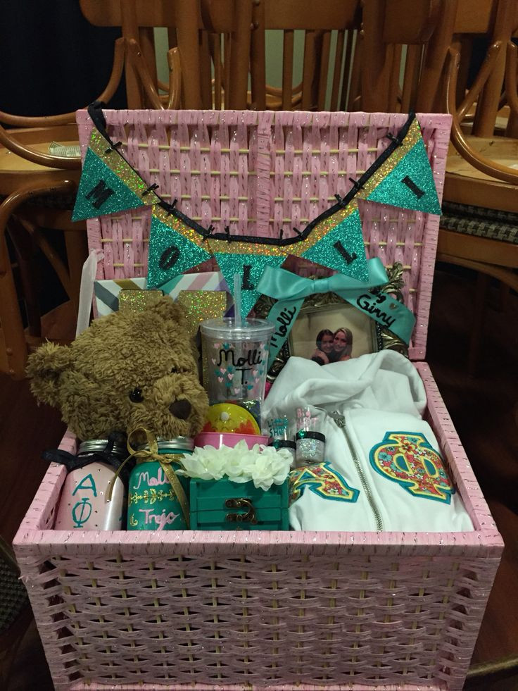 Best ideas about Sorority Gift Ideas . Save or Pin Sorority Big Little Gift Basket Ideas Find the Perfect Now.