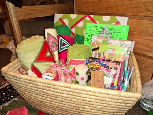 Best ideas about Sorority Gift Ideas . Save or Pin basket ideas Can t wait for a little Now.