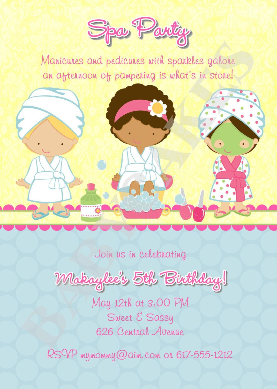 Best ideas about Spa Birthday Invitations . Save or Pin Spa Party Birthday Invitation DIY Print Your Own Now.