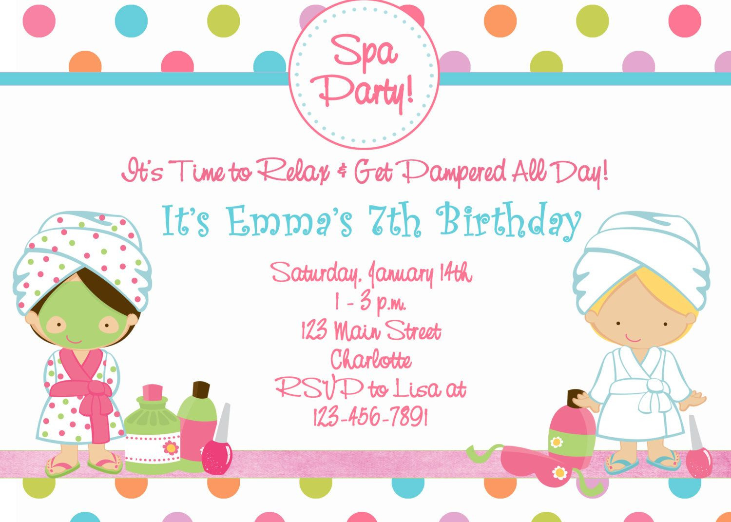 Best ideas about Spa Birthday Invitations . Save or Pin Free Printable Spa Birthday Party Invitations Now.