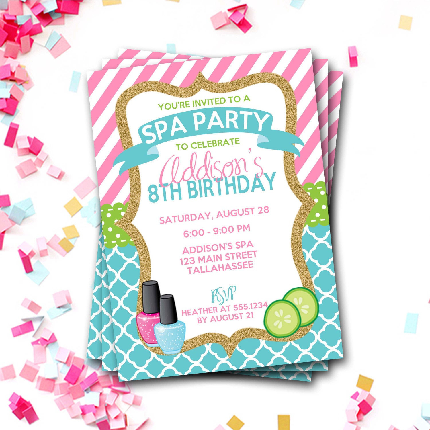 Best ideas about Spa Birthday Invitations . Save or Pin Spa Birthday Invitation Spa Party Invitation Sleepover Now.