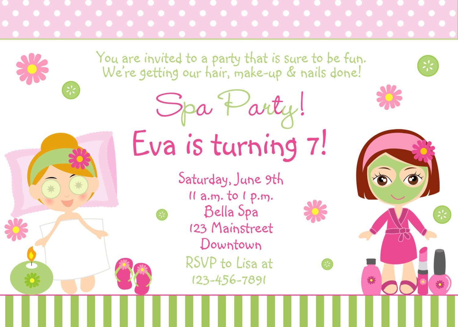 Best ideas about Spa Birthday Invitations . Save or Pin Spa Birthday Party Invitation printable by TheButterflyPress Now.