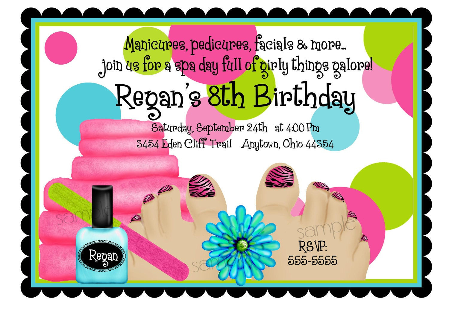 Best ideas about Spa Birthday Invitations . Save or Pin Spa Birthday Party Invitations Spa Party Spa Now.