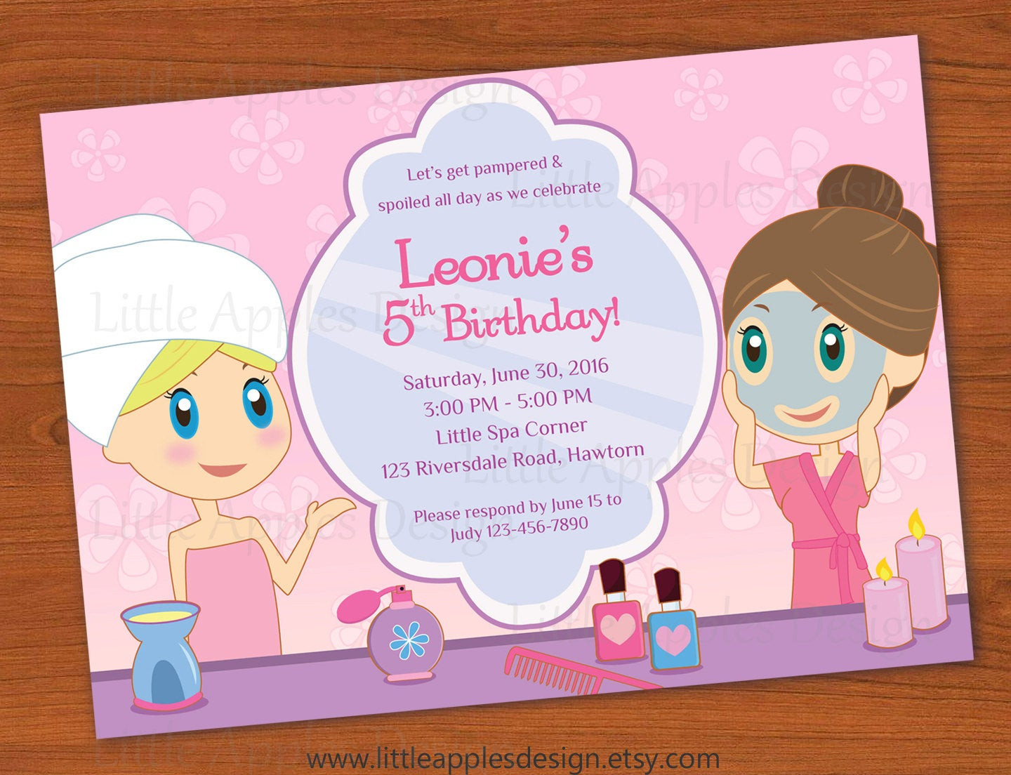 Best ideas about Spa Birthday Invitations . Save or Pin Kids Spa Party Invitation Girls Spa Party invitation Spa Now.