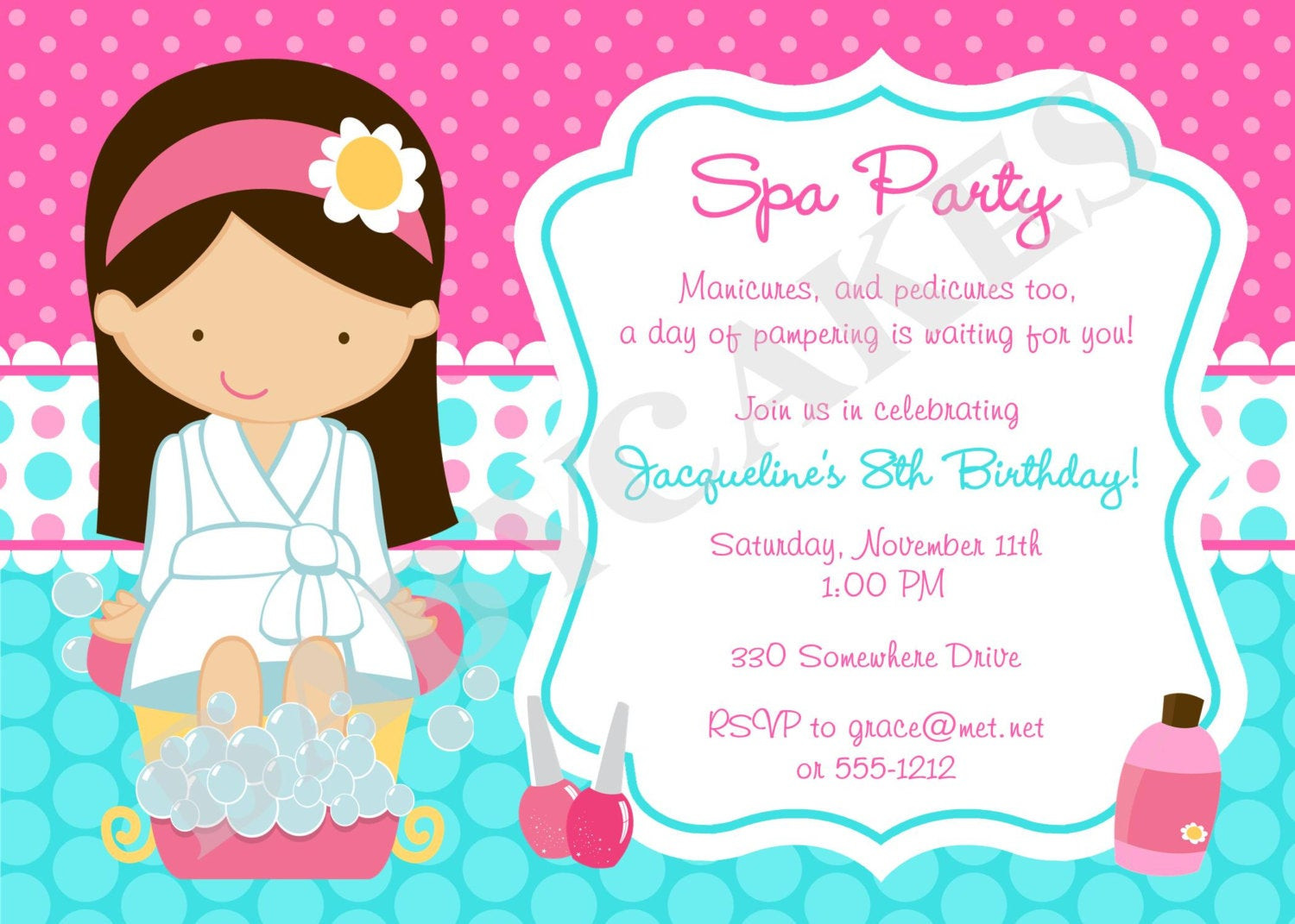 Best ideas about Spa Birthday Invitations . Save or Pin Spa Party Invitation Spa Birthday Party Spa invitation Now.