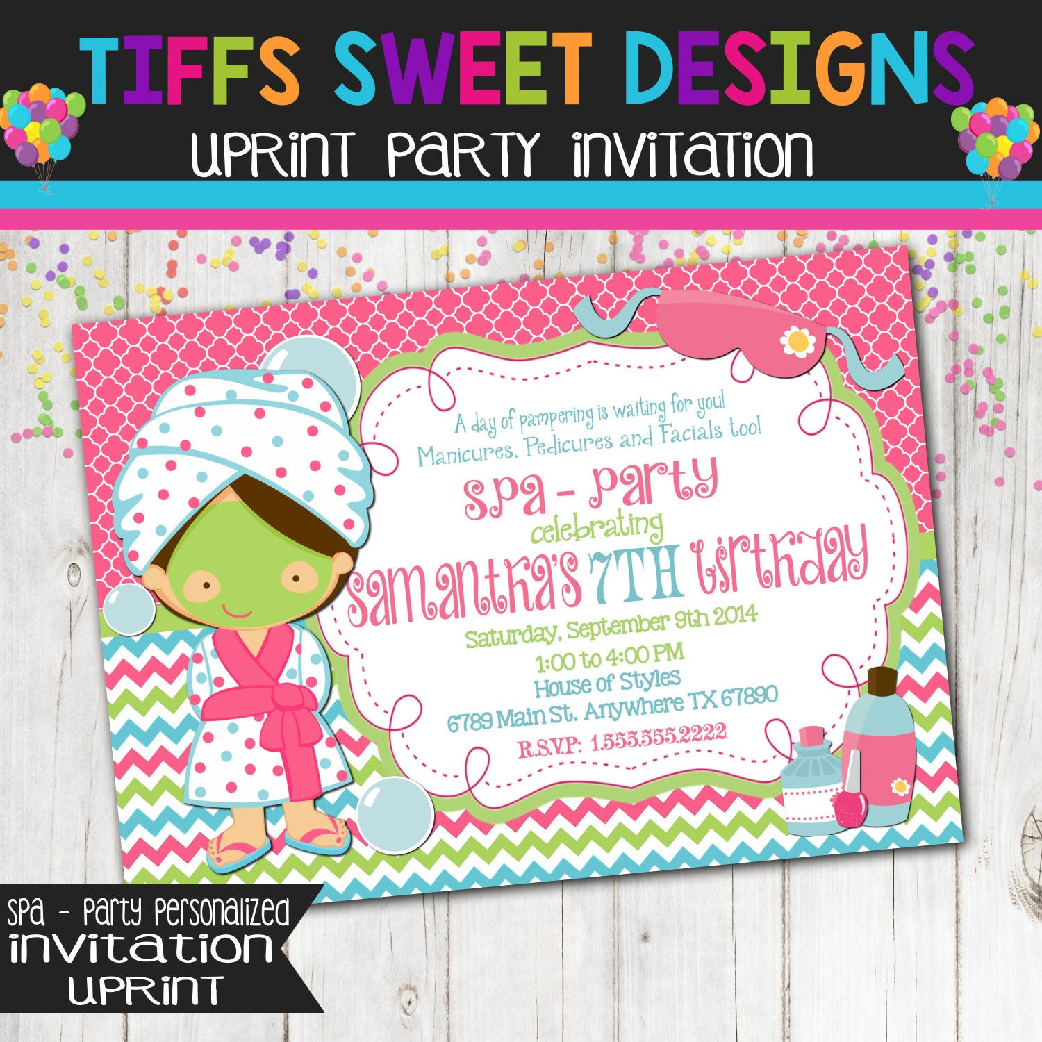 Best ideas about Spa Birthday Invitations . Save or Pin Spa Party Invitation Spa Party Birthday Girls Birthday Now.