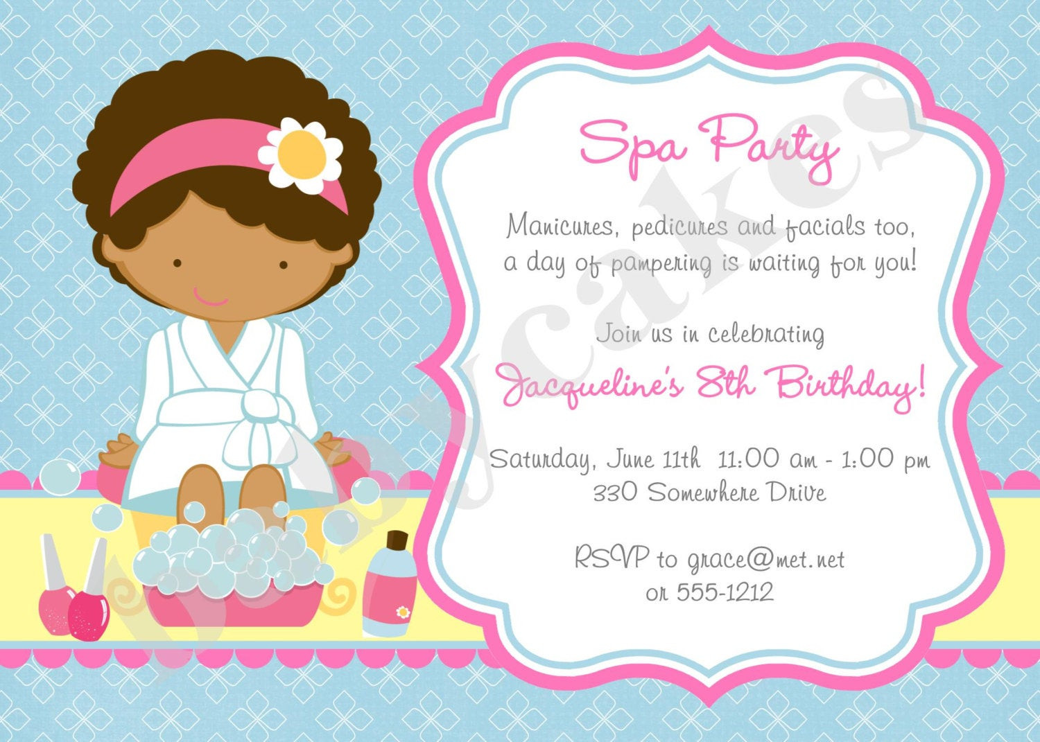 Best ideas about Spa Birthday Invitations . Save or Pin Spa Party Invitation Spa Birthday Party Invitation invite Spa Now.