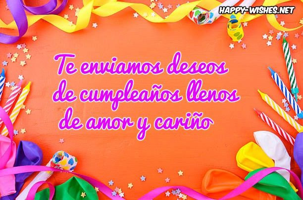 Best ideas about Spanish Birthday Wishes . Save or Pin Happy Birthday Wishes In Spanish Happy Wishes Now.