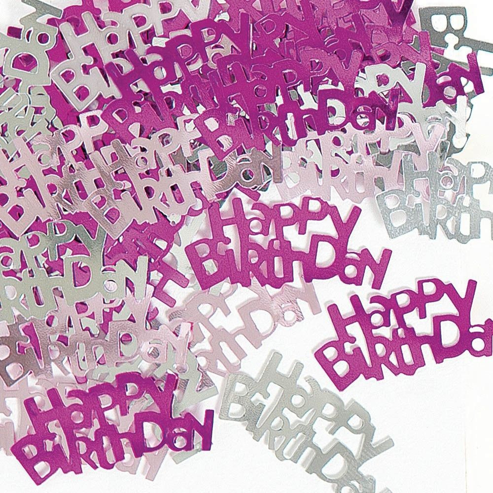 Best ideas about Sparkly Birthday Wishes . Save or Pin Pink & Silver Sparkle Happy Birthday Confetti Foil Now.
