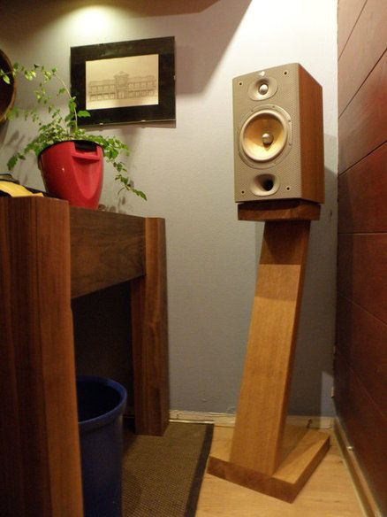 Best ideas about Speaker Stands DIY . Save or Pin diy Wood Bookshelf Speaker Stand wood Now.