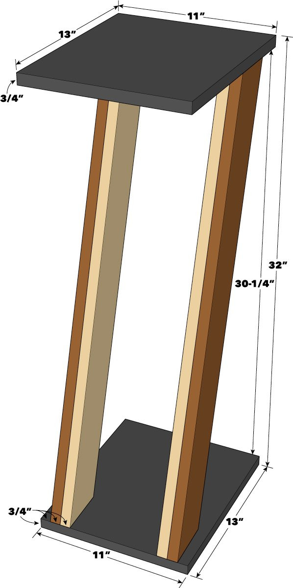 Best ideas about Speaker Stands DIY . Save or Pin Saturday Morning Workshop How To Build Speaker Stands Now.