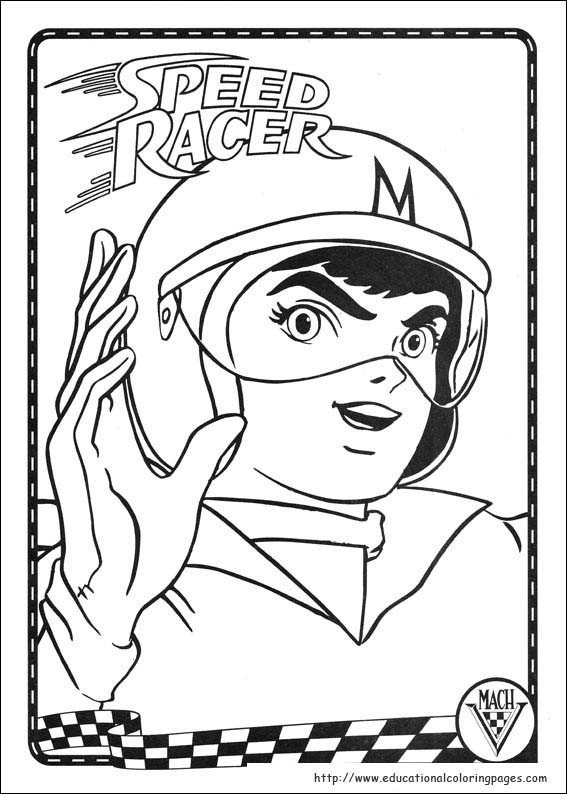 Best ideas about Speed Racer Free Coloring Pages . Save or Pin Speed Racer Coloring Pages Educational Fun Kids Coloring Now.