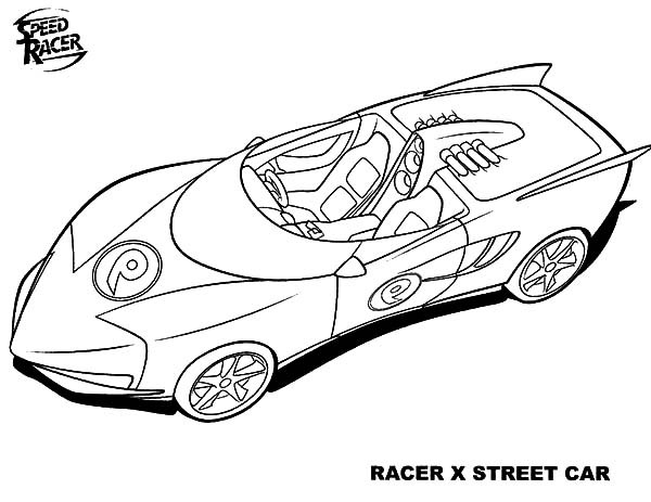 Best ideas about Speed Racer Free Coloring Pages . Save or Pin Speed Racer X Street Car Coloring Pages Best Place to Color Now.