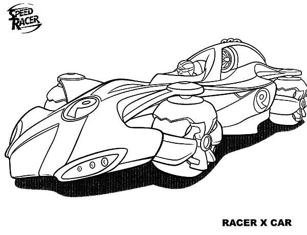 Best ideas about Speed Racer Free Coloring Pages . Save or Pin Awesome Speed Racer X Car Coloring Pages Now.