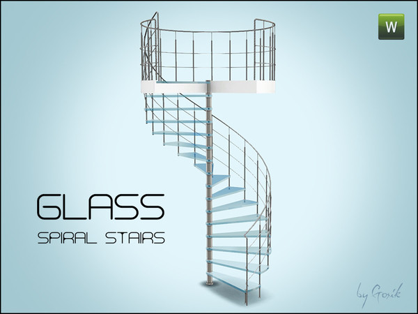 Best ideas about Spiral Staircase Sims 4 . Save or Pin Gosik s Glass spiral stairs Now.